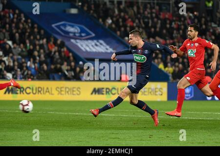 Julian Draxler during the French Cup match between Paris Saint Germain and Dijon at Parc des Princes in Paris, France on February 26, 2019. (Photo by Lionel Urman/Sipa USA)