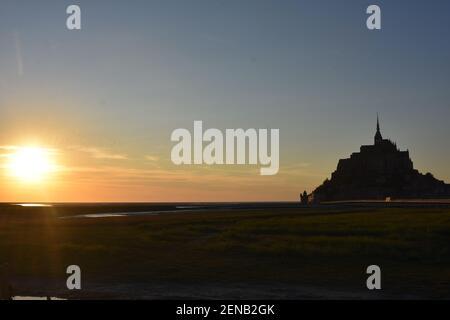 Le Mont Saint Michel, Normandy, France Stock Photo
