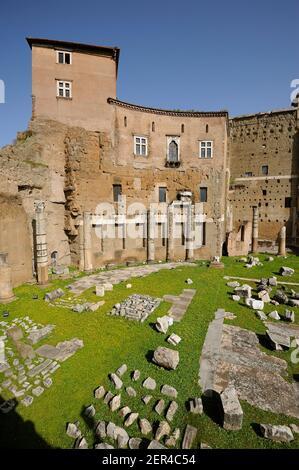 italy, rome, forum of augustus and medieval house (casa dei cavalieri di rodi) Stock Photo