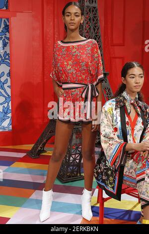 Model poses during the Alice + Olivia by Stacey Bendet New York Fashion Week Spring Summer 2019 Collection Fashion Presentation in New York, NY on September 11, 2018. ?(Photo by Jonas Gustavsson/Sipa USA)