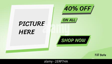 Spring season happy green sale banner for business promotion in the festive season like spring sale, summer sale, black Friday, shop opening