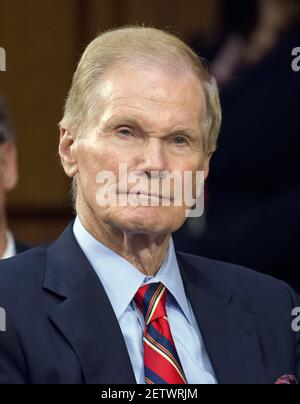 United States Senator Bill Nelson (Democrat of Florida) observes as former FBI Director James Comey testifies before US Senate Select Committee on Intelligence on the Russian intervention in the 2016 Presidential election on Capitol Hill in Washington, DC on Thursday, June 8, 2017. Credit: Ron Sachs / CNP (RESTRICTION: NO New York or New Jersey Newspapers or newspapers within a 75 mile radius of New York City) *** Please Use Credit from Credit Field ***