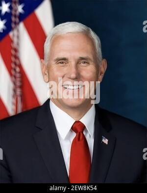 The official Presidential portrait of Vice President Mike Pence was officially released by the White House on October 31, 2017. (Photo by White House/Sipa USA)