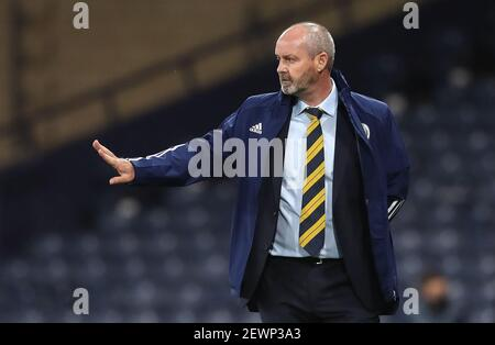 File photo dated 04-09-2020 of Scotland manager Steve Clarke. Issue date: Wednesday March 3, 2021.