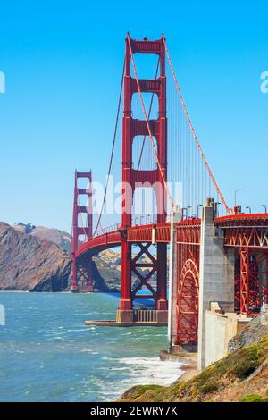 View of Golden Gate Bridge, San Francisco, California, United States of America, North America