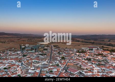 Small Andalusian town in southern Spain photographed from the top of a mountain