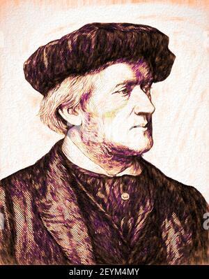 Wilhelm Richard Wagner, 1813 - 1883, German composer