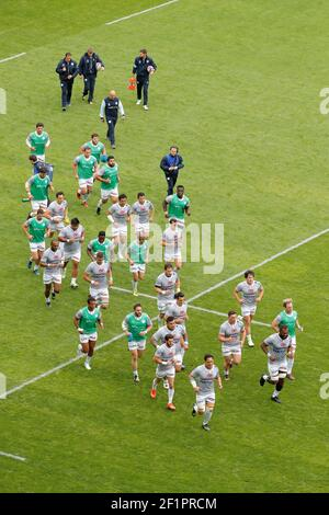 Players of Racing Metro 92 during the French Championship Top 14 Rugby Union match between Stade Francais Paris and Racing Metro 92 on April 30, 2017 at Jean Bouin stadium in Paris, France - Photo Stephane Allaman / DPPI