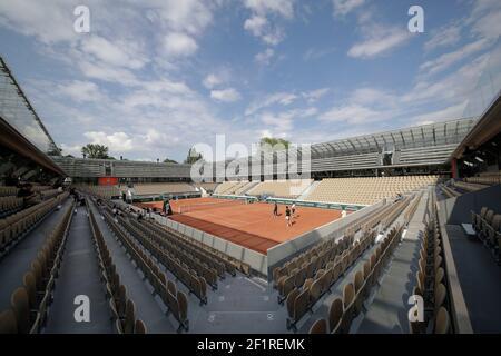 Illustration of Simonne-Mathieu Court during the Roland-Garros 2019, Grand Slam Tennis Tournament, on May 24, 2019 at Roland-Garros stadium in Paris, France - Photo Stephane Allaman / DPPI Stock Photo