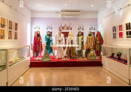 Muscat, Oman - February 10, 2020: Interiors of Bait Al Zubair Museum located in old Muscat od Sultanate of Oman