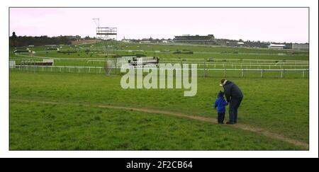 To go with story by Mathew Beard comparing last yrs cancelled Cheltenham Gold cup Festival to this yr..... pic David Sandison 6/3/2002