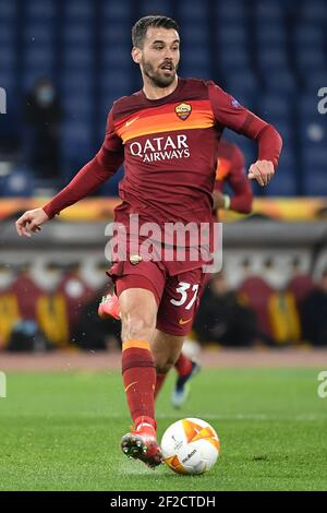 Rome, Italy. 11th Mar, 2021. during the Europa League round of 16 football match between AS Roma and FC Shakhtar Donetsk at Stadio Olimpico in Rome (Italy), March, 11th, 2021. Photo Antonietta Baldassarre/Insidefoto Credit: insidefoto srl/Alamy Live News - Stock Photo
