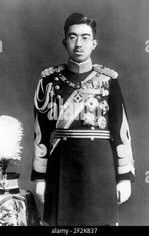 Hirohito. Portrait of the 124th emperor of Japan, Hirohito (1901-1989) in 1935