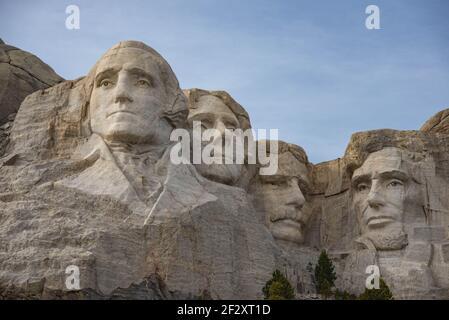 Presidents sculptures at Mount Rushmore National Memorial, South Dakota, USA