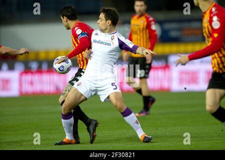 Giacomo Bonaventura player of Fiorentina, during the match of the Italian Serie A championship between Benevento vs Fiorentina final result 1-4, playe