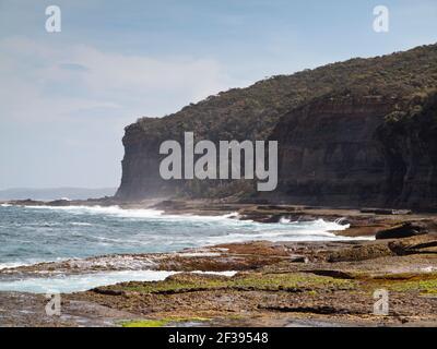 Cliffs near Depot Beach, Murramarang National Park, NSW, Australia