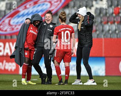 Munich, Germany. 14th Mar, 2020. Asseyi, Vivi (FC Bayern Muenchen 18) in action during the Flyeralarm Frauen Bundesliga match between FC Bayern Munich and SGS Essen at FC Bayern Campus in Bayern, Germany. Credit: SPP Sport Press Photo. /Alamy Live News