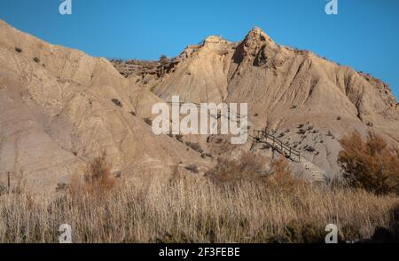 Tabernas Desert Hills Landscape in Almeria Spain  Nature Adventure Travel Europa