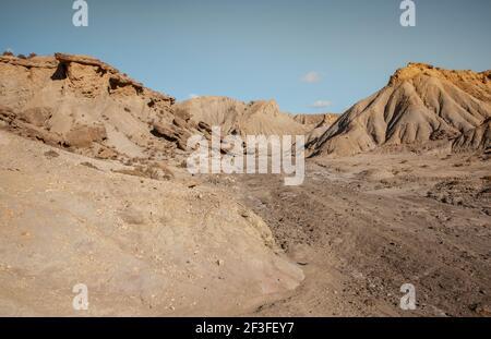 Tabernas Desert Hills and Ramblas Landscape in Almeria Spain  Nature Adventure Travel Europa