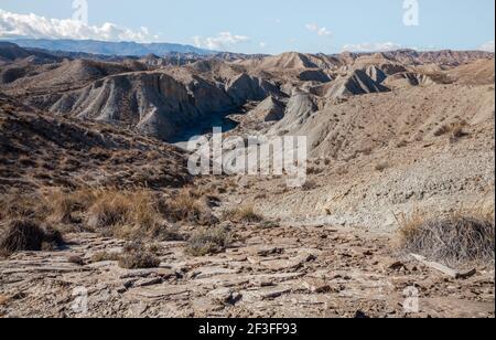 Tabernas Desert Hills Landscape in Almeria Spain  Nature Adventure Travel Europe