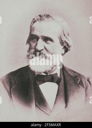 Giuseppe Verdi (1813 – 1901) was an Italian opera composer. Stock Photo