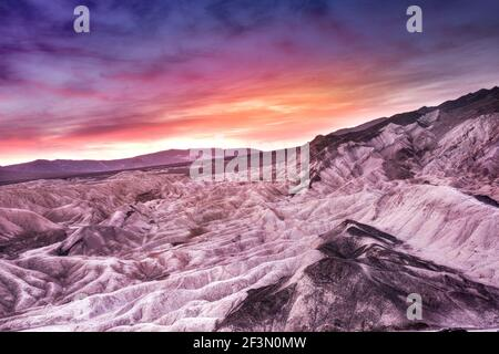 Beautiful colorful Death Valley National Park landscape travel image with mountains