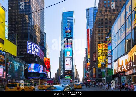 geography / travel, USA, New York, New York City, Manhattan, theatre / theater District, Times Square, Additional-Rights-Clearance-Info-Not-Available Stock Photo