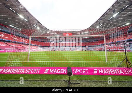 Munich, Germany. 20th Mar, 2021. Allianz Arena inside in the match FC BAYERN MUENCHEN - VFB STUTTGART 4-0 1.German Football League on March 20, 2021 in Munich, Germany Season 2020/2021, matchday 26, 1.Bundesliga, FCB, München, 26.Spieltag Credit: Peter Schatz/Alamy Live News