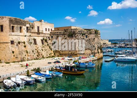 geography / travel, Gallipoli, city view, Italy, Apulia, Additional-Rights-Clearance-Info-Not-Available