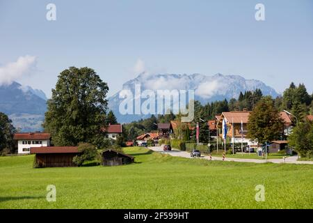 geography / travel, Germany, Bavaria, Upper Bavaria, Chiemgau, REIT in the Winkl, townscape, Additional-Rights-Clearance-Info-Not-Available - Stock Photo
