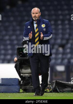 File photo dated 04-09-2020 of Scotland manager Steve Clarke. Issue date: Friday March 26, 2021.