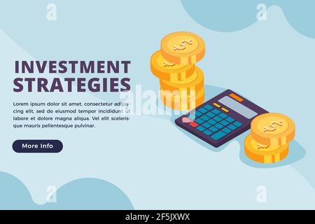 investment strategies business concept vector illustration