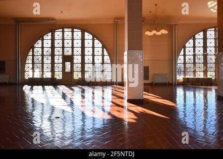 Ellis Island, New York  - December 3, 2019. Great Hall inside of the Ellis Island National Museum of Immigration, USA. Stock Photo