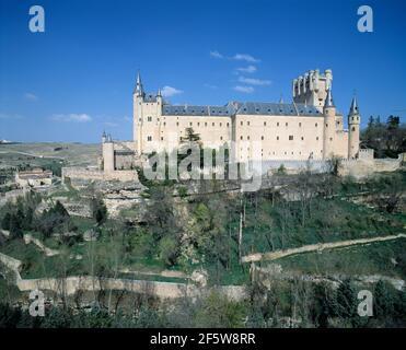 Spain. Segovia. Alcazar. Fortified Palace.