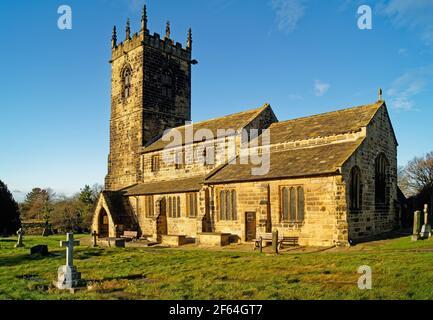 UK, West Yorkshire, Wakefield, Felkirk, St Peter's Church