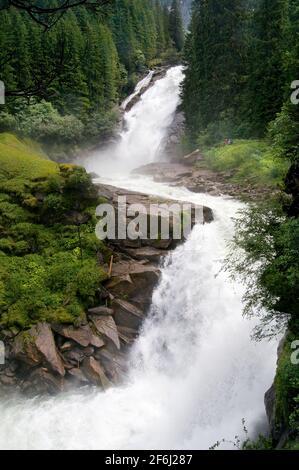 Krimml Falls In High Tauern National Park in Salzburg Austria