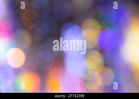 colorful bokeh of city lights background photo