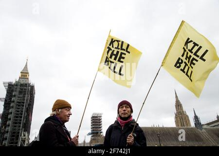 April 3rd 2021. National Day of Action against the proposed new policing bill  which would give police extra powers to limit the length and noise of p