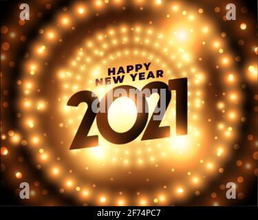 happy new year 2021 party celebration background - Stock Photo
