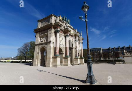 The Triumphal Arch of Carrousel is a triumphal arch in Paris, located in the Place du Carrousel. It was built between 1806 and 1808.