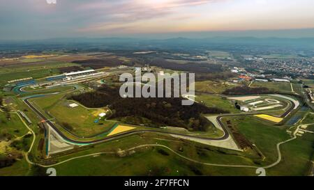 Hungaroring, Official forma 1 race track of Hungary in Mogyorod city. Many motorsport events location - Stock Photo