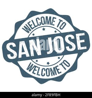 Welcome to San Jose grunge rubber stamp on white background, vector illustration