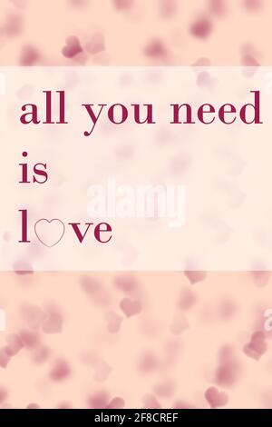 all you need is love background and pink wallpaper