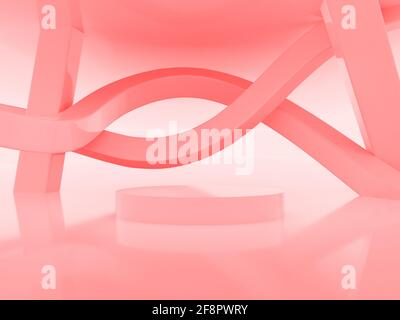 3D render shape stage perfection abstract, high quality photo