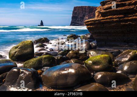 Alentejo Coastline - Stone beach in Portugal