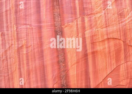Canyon wall texture, Grand Staircase Escalante National Monument. Utah, USA, North America Stock Photo