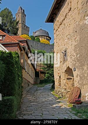 Hellhof, castle, keep, tower, old town, Kronberg im Taunus, Hesse, Germany