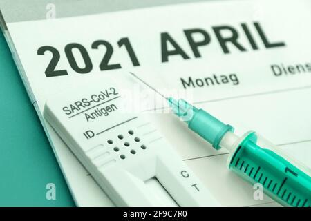 Corona Konzept Impfung und Test April 2021