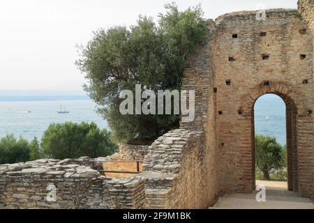 Grottoes of Catullus / Grotte di Catullo. Ruins of a Roman villa. Sirmione, Lake Garda, Lago di Garda, Gardasee, Italy