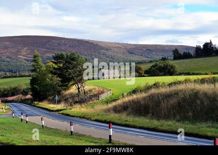 Broomhill, Scotland, United Kingdom. The beauty of the highlands and Scottish countryside east of Inverness as early autumn settles in on the area.